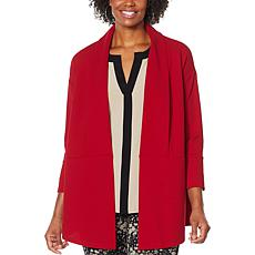 Nina Leonard High Tech Crepe Oversized Blazer