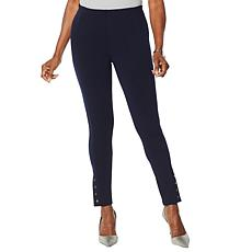 Nina Leonard High-Tech Stretch Crepe Legging