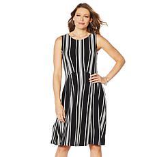 Nina Leonard Miracle Matte Jersey Circle Skirt Dress