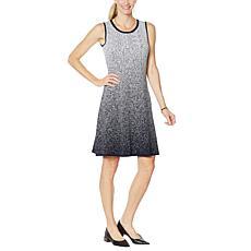 Nina Leonard Sleeveless A-Line Sweater Dress