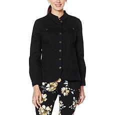 Nina Leonard Stretch Twill Jacket