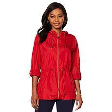 Nina Leonard Water-Resistant Rain Jacket