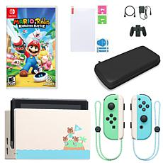 Nintendo Switch Animal Crossing Console w/Mario + Rabbids Game