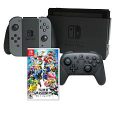 Nintendo Switch Bundle with Super Smash Bros. Game and Accessories