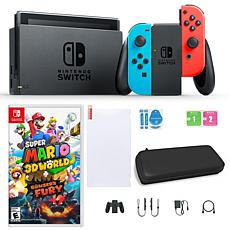 Nintendo Switch Console with Super Mario 3D World + Bowser's Fury