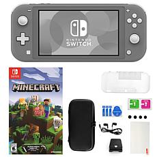 Nintendo Switch Lite in Gray with Minecraft Game and Accessories