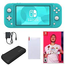 Nintendo Switch Lite in Turquoise with Fifa 20 and Accessories