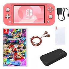 Nintendo Switch Lite with Mario Kart and Accessories - Coral