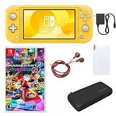 Nintendo Switch Lite with Mario Kart and Accessories - Yellow