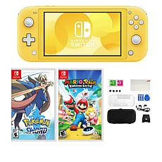 Nintendo Switch Lite with Pokemon Sword Game and Accessories