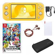 Nintendo Switch Lite  with Super Smash Bros. and Accessories - Yellow