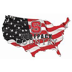 North Carolina State University USA Shape Flag Cutout