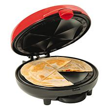 Nostalgia EQM200 Electric Quesadilla Maker w/ Extra Stuffing Latch