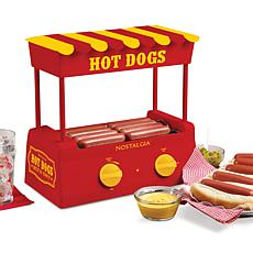 Nostalgia Hot Dog Roller and Bun Warmer - Red/Yellow