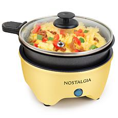 Nostalgia MyMini Personal Electric Skillet in Yellow
