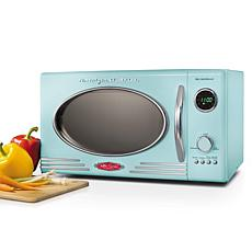 Nostalgia Retro 800-Watt Countertop Microwave Oven in Aqua