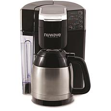 NuWave BruHub 3-in-1 Coffeemaker with Stainless Steel Carafe