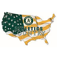 Oakland Athletics USA Shape Flag Cutout