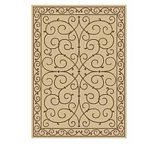 Oasis 7' x 10' Scroll Design Indoor/Outdoor Reversible Rug