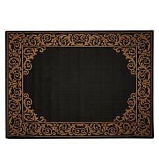 "Oasis 7'8"" x 10' Scroll Border Indoor/Outdoor Reversible Rug"