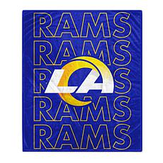 "Officially Licensed 60"" x 70"" Prima Fleece Echo Throw Blanket - Rams"