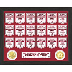 Officially Licensed Alabama Crimson Tide Bronze Coin Banner Collection