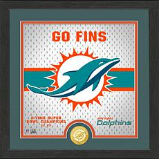 Officially Licensed Battle Cry Bronze Photo Mint - Dolphins
