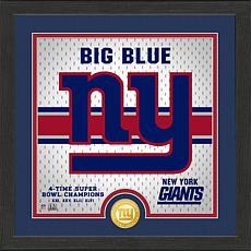 Officially Licensed Battle Cry Bronze Photo Mint - New York Giants