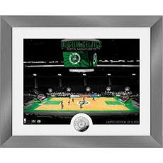 Officially Licensed Boston Celtics Art Deco Silver Coin Photo Mint