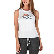 Officially Licensed by Concepts Sport NFL Gable Knit Tank - Broncos