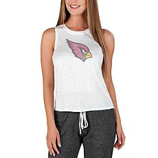 Officially Licensed by Concepts Sport NFL Gable Knit Tank - Cardinals