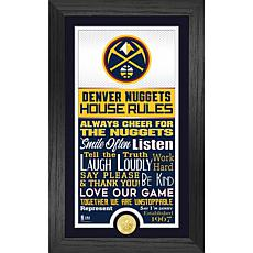 Officially Licensed Denver Nuggets House Rules Bronze Coin Photo Mint