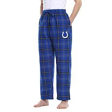 Officially Licensed Men's Plaid Flannel Pant by Concept Sports - Colts