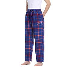 Officially Licensed Men's Plaid Flannel Pant by Concept Sports - Bills