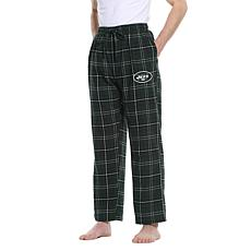 Officially Licensed Men's Plaid Flannel Pant by Concept Sports - Jets
