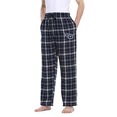 Officially Licensed Men's Plaid Flannel Pant by Concept Sports- Titans