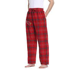 Officially Licensed Men's Plaid Flannel Pant, Concept Sports- AZ Cards