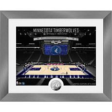 Officially Licensed Minnesota Timberwolves Art Deco Coin Photo Mint