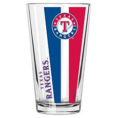 Officially Licensed MLB 16 oz. Vertical Decal Pint Glass - Rangers