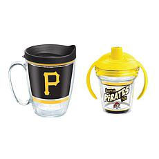 Officially Licensed MLB 16oz. Coffee Mug and 6oz. Sippy Cup - Pirates