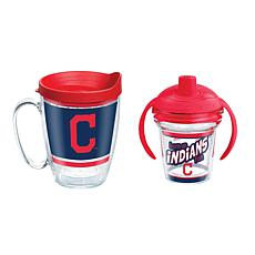Officially Licensed MLB 16oz. Coffee Mug and 6oz. Sippy Cup - Indians
