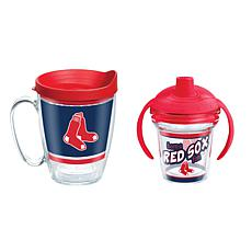 Officially Licensed MLB 16oz. Coffee Mug and 6oz. Sippy Cup - Red Sox