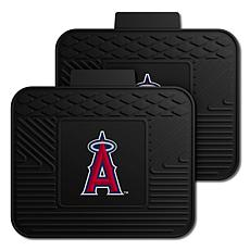 Officially Licensed MLB 2-Piece Utility Mat Set - Los Angeles Angels