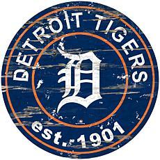 "Officially Licensed MLB 24"" Established Date Sign - Detroit Tigers"
