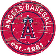 "Officially Licensed MLB 24"" Established Date Sign - Los Angeles Angels"
