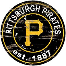 """Officially Licensed MLB 24"""" Established Date Sign - Pittsburgh Pirates"""