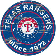 """Officially Licensed MLB 24"""" Established Date Sign - Texas Rangers"""