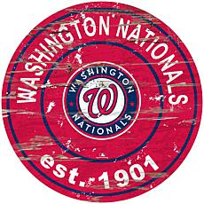 """Officially Licensed MLB 24"""" Established Sign - Washington Nationals"""