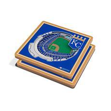 Officially Licensed MLB 3D StadiumViews Coasters - Kansas City Royals