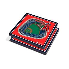 Officially Licensed MLB 3D StadiumViews Coasters - Los Angeles Angels